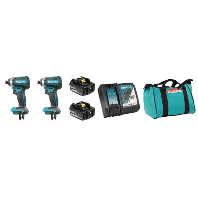 DLX2186T | Ensemble de 2 outils Brushless 18 V (5,0 Ah) LXT Makita